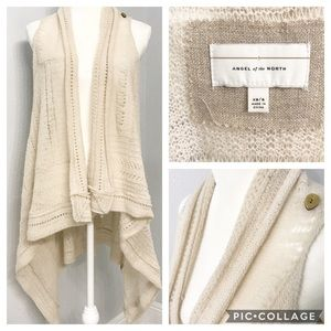 Angel of the north anthropologie open vest